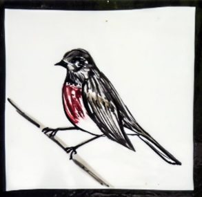 Robin Tile by Mary-Lou Pittard in our Secret Garden