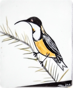 The Secret Garden - Mary-lou Pittard Tiles - Honey Eater