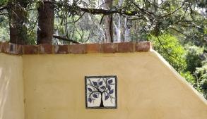 The Secret Garden - Mary-lou Pittard Tiles - Peacock Feather