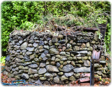 A rough dry stone wall