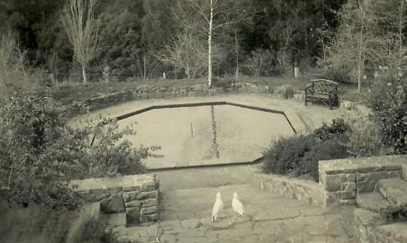 Octagonal Reflection Pool - early Days
