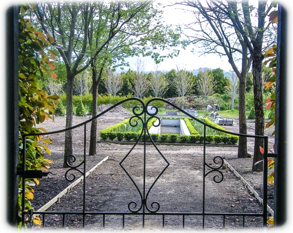 Alowyn Gardens - Wrought Iron Gate