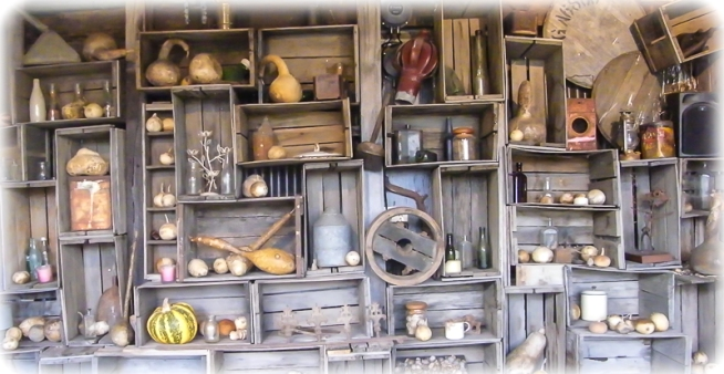 Alowyn Gardens - Shelves with tools