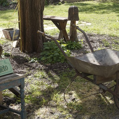 Old Wheelbarrow outside the Secret Garden